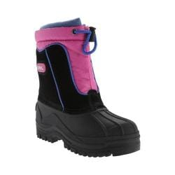 Children's totes Snow Drift Waterproof Snow Boot Black/Fuchsia