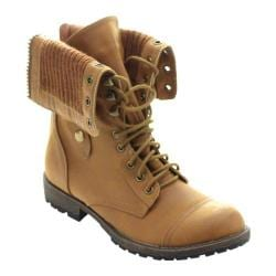 Women's Beston Galaxy-01 Ankle Boot Tan Faux Leather/Faux Fur