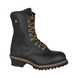 Men's Golden Retriever Footwear 9207 Deluxe 9in Super Logger Black Buffalo Leather