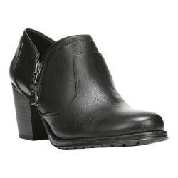 Women's Naturalizer Trust Side-Zip Heel Black Otranto Brush Polyurethane