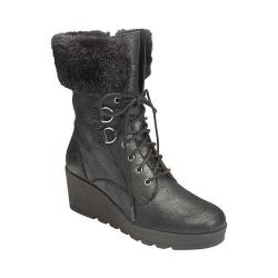 Women's A2 by Aerosoles Color Range Faux Fur Boot Black Combo Synthetic