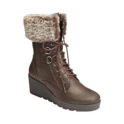 Women's A2 by Aerosoles Color Range Faux Fur Boot Dark Brown Combo Synthetic