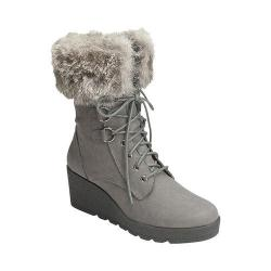 Women's A2 by Aerosoles Color Range Faux Fur Boot Grey Combo Synthetic