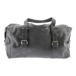 Piel Leather Satchel With Buckles 3030 Charcoal