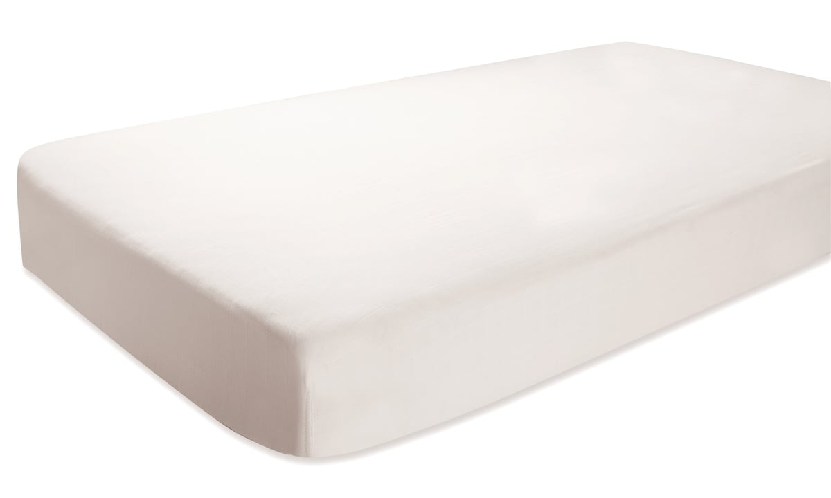 aden + anais Silky Soft Earthly White Bamboo Crib Sheet
