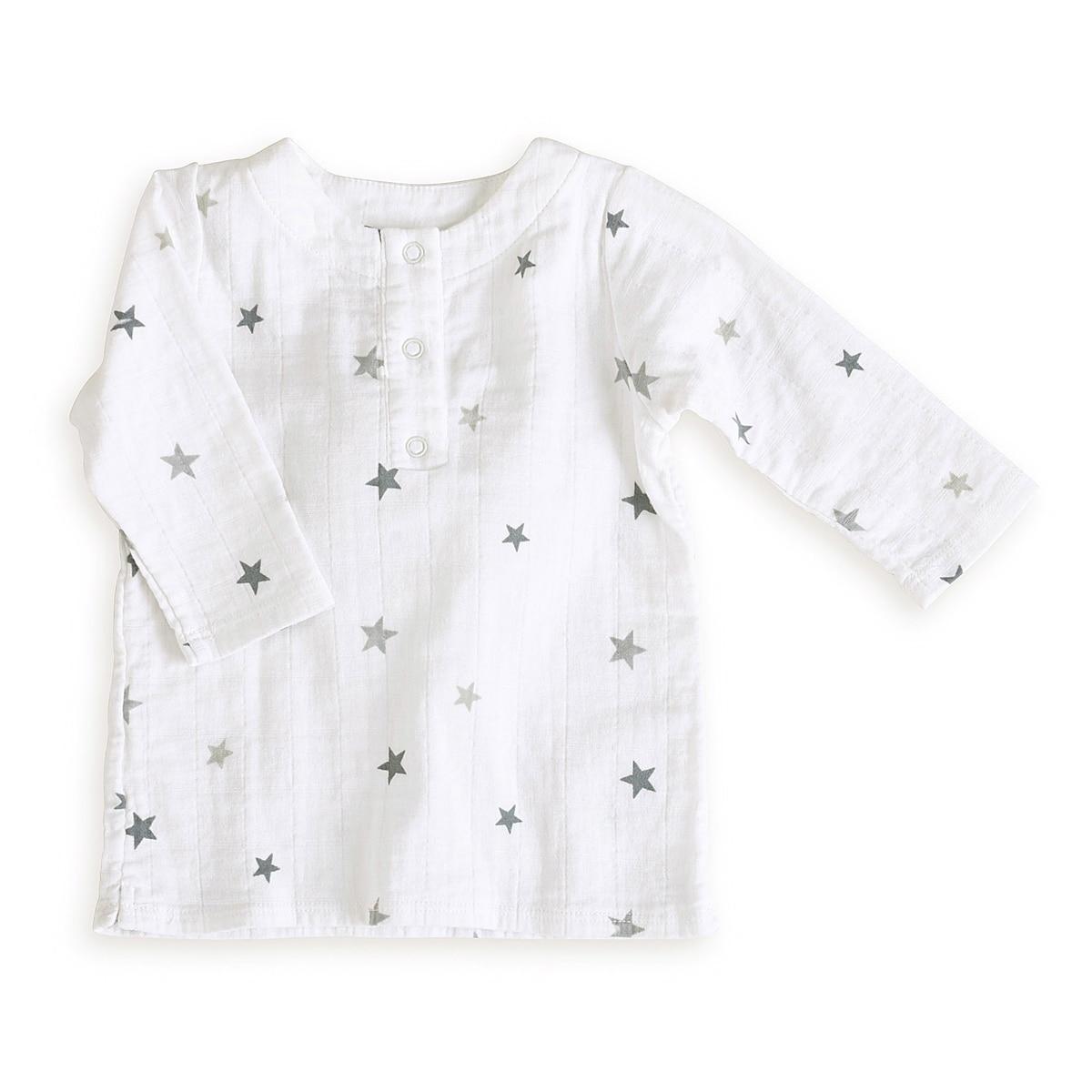 aden + anais Boys 0-3 Months Twinkle Tiny Star Muslin Tunic Top