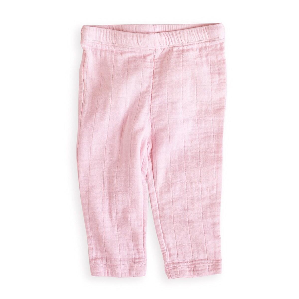 aden + anais Girls 6-9 Months Lovely Pink Muslin Pants
