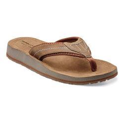 Men's Nunn Bush Lakeshore 84479 Slip On Thong Sandal Tan Crazy Horse Leather