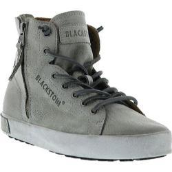 Women's Blackstone JL18 High Top Zipper Sneaker Grey Metallic Full Grain Leather