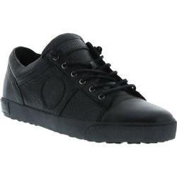 Men's Blackstone JM12 Low Top Leather Sneaker Black Full Grain Leather