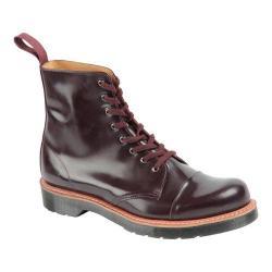 Men's Dr. Martens Charlton 8-Eye Toe Cap Boot Oxblood Polished Smooth