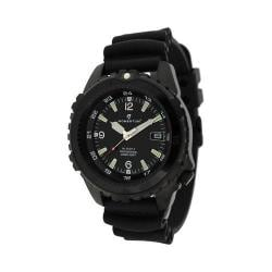 Men's Momentum Watch Deep 6 Night Vision Rubber Watch Black/Black Rubber