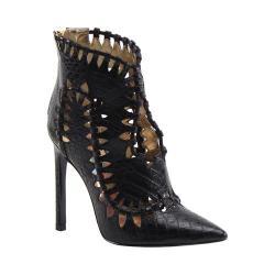 Women's Luichiny Stone Cold Bootie Black Croco Leather