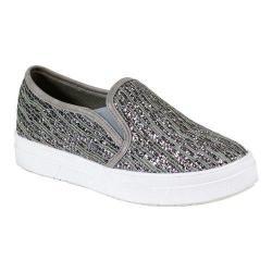 Women's Reneeze Olga-06 Slip-on Funky Glittery Sneaker Grey PU