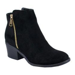 Women's Reneeze Pama-01 Stacked Heel Ankle Boot Black PU