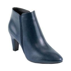 Women's Reneeze Petra-01 Pointed Toe Ankle Boot Navy PU