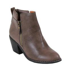 Women's Reneeze Polo-01 Stacked Heel Ankle Boot Grey Taupe PU