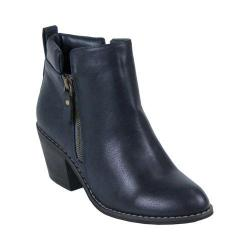 Women's Reneeze Polo-01 Stacked Heel Ankle Boot Navy PU