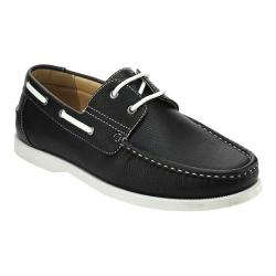Men's L & C Winson-01 Boat Shoe Black