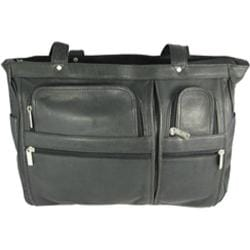 David King Leather 147 Womens Multipocket Briefcase Black