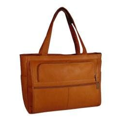 David King Leather 148 Womens Multipocket Briefcase Tan