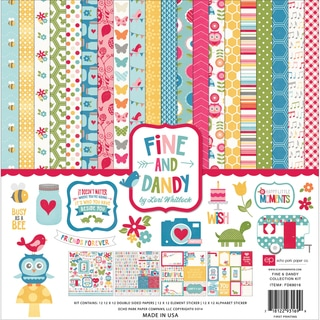 "Echo Park Collection Kit 12""X12""-Fine & Dandy"