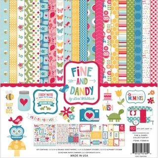 """Echo Park Collection Kit 12""""X12""""-Fine & Dandy"""