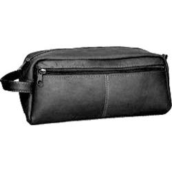 David King Leather 414 Large Multi Pocket Shave Kit Black