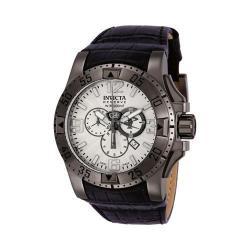Men's Invicta 10521 Excursion Quartz Chronograph Black Leather/Silver