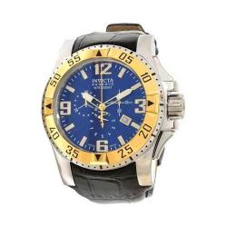 Men's Invicta Excursion 10905 Black Leather/Blue