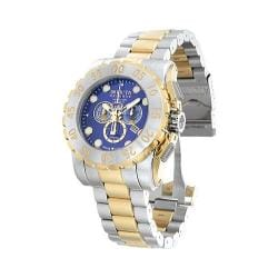 Men's Invicta Leviathan Reserve 7266 Stainless Steel/Gold/Blue
