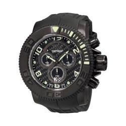 Men's Invicta Sea Hunter 0414 Black Polyurethane/Black