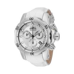 Women's Invicta Venom 16089 White Leather/Silver