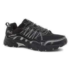 Men's Fila At Tractile Trail Shoe Black/Black/Metallic Silver