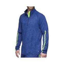 Men's Fila Camo 1/2 Zip Top Blue Depths/Blue Depths/Safety Yellow
