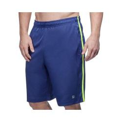 Men's Fila Camo Short Blue Depths/Safety Yellow