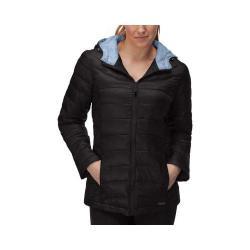 Women's Fila Channel Puffer Jacket Black/Lavender Purple