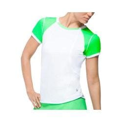 Women's Fila Citrus Bright Short Sleeve Top White/Green Flash