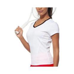 Women's Fila Core Short Sleeve Top White/Black 16613969