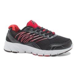 Girls' Fila Countdown Running Shoe Black/Fila Red/Dark Silver