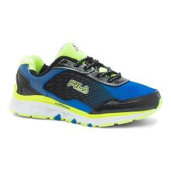Boys' Fila Energistic Running Shoe Electric Blue Lemonade/Safety Yellow/Black