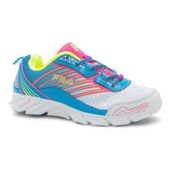 Girls' Fila Fila Forward Running Shoe White/Atomic Blue/Knockout Pink 16614610