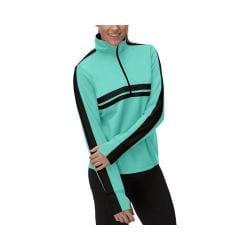 Women's Fila Fila-Ment Half Zip Shirt Emerald Teal/Black/Emerald Green