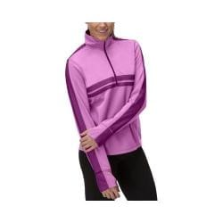 Women's Fila Fila-Ment Half Zip Shirt Thistle/Sparkling Purple/Black