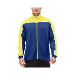 Men's Fila Front Row Jacket Blue Depths/Hot Lime/White