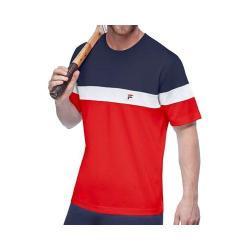 Men's Fila Heritage Colorblock Crew T-Shirt Chinese Red/Peacoat/White
