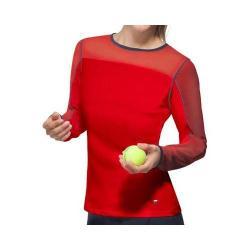 Women's Fila Heritage Long Sleeve Top Crimson/Peacoat