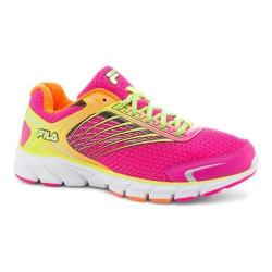 Women's Fila Memory Maranello 2 Running Shoe Pink Glo/Shocking Orange/Safety Yellow
