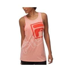 Women's Fila Muscle Relaxer Tank Top Peach Poise/Cherry Tomato/White