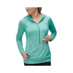 Women's Fila Phenom Half Zip Hoody Electric Green/Emerald Teal